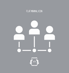 social network concept - flat minimal icon vector image