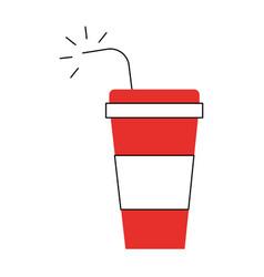 Soda plastic container icon vector