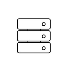 Stacked storage device icon vector