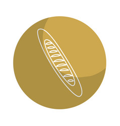 Sticker delicious fresh bakery long bread vector