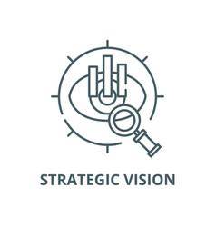 Strategic vision line icon linear concept vector