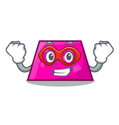 Super hero trapezoid character cartoon style vector