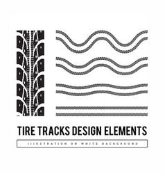 tire tracks set design elements vector image