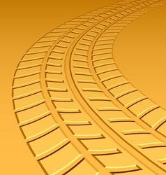 trace tyre hot sand desert vector image