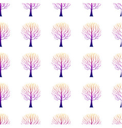 Trees pattern gradient hand drawn-01 vector