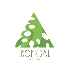 tropical logo design triangle badge vector image