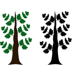 two different styled trees vector image