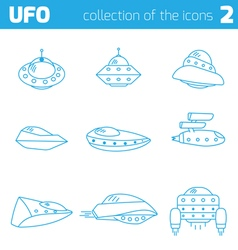 Ufo alien ships icon part two vector