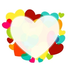 Various multicolored hearts vector image