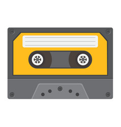 audio cassette flat icon music and instrument vector image