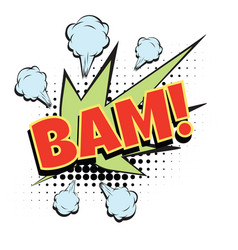 bam comic word vector image
