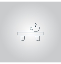 cup on the table icon vector image