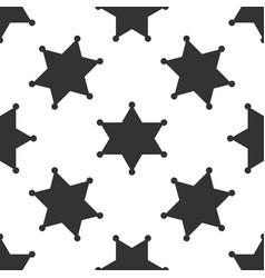 hexagram sheriff star badge icon seamless pattern vector image vector image