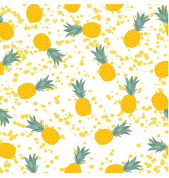 pineapple natural seamless pattern backgroun vector image vector image