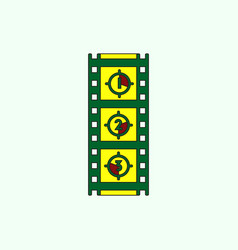 Retro movie frame in flat vector