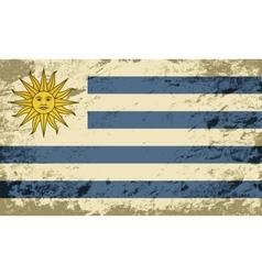 Uruguayan flag Grunge background vector image