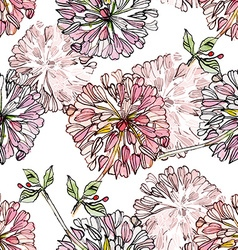 vintage floral seamless texture watercolor vector image
