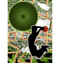 vintage urban grunge basket vector image