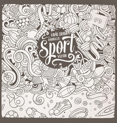cartoon cute doodles sport frame vector image vector image