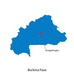 Burkina Faso map world Royalty Free Vector Image