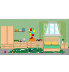 interior of a children s bedroom with furniture vector image