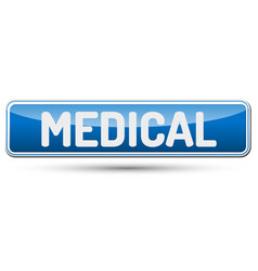 medical - abstract beautiful button with text vector image vector image