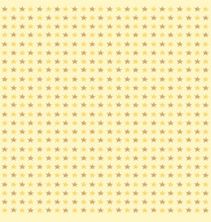seamless pattern with yellow stars on yellow vector image