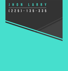 Style graphic business template name card vector