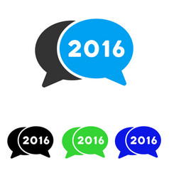 2016 chat flat icon vector image