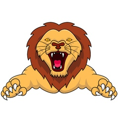 angry lion cartoon vector image vector image