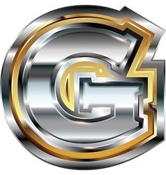 Fancy font Letter G vector image vector image