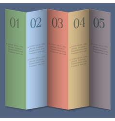 Folded numbered paper banners vector image vector image