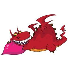 big dragon with heart vector image vector image