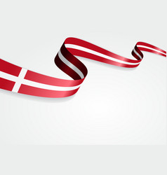 Danish flag background vector image