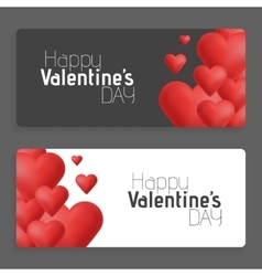 Hearts on abstract love background Be my vector image