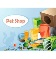 Pet shop concept vector image vector image
