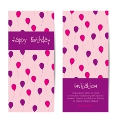 vertical birthday greeting card vector image vector image