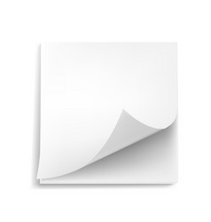 3d blank white sticker with shadow on white vector image