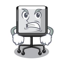 angry presentation board cartoon on the floor vector image