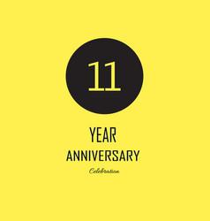 Anniversary celebration on yellow background vector