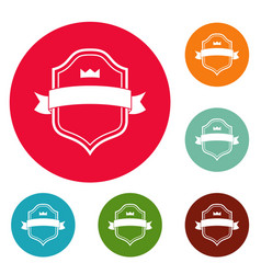 badge best quality icons circle set vector image