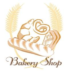 Bakery shop concept art vector image