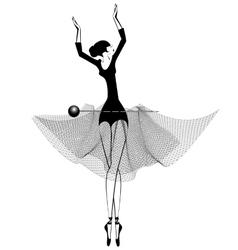 Ballet girl and pin vector