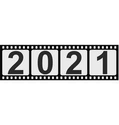 banner slide 2021 happy new year retro style vector image