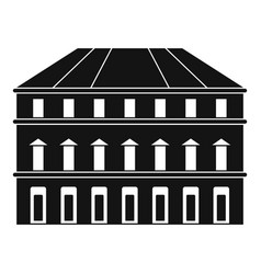 building icon simple style vector image