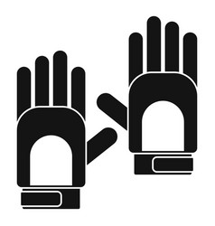 camp gloves icon simple style vector image