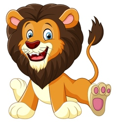 cartoon lion sitting vector image