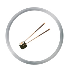 Chopsticks icon in cartoon style isolated on white vector image