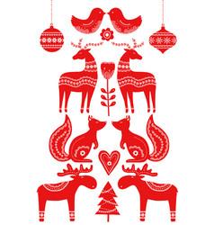 Christmas scandinavian elements vector