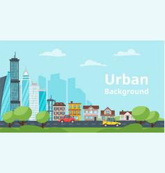 City landscape urban skyline vector